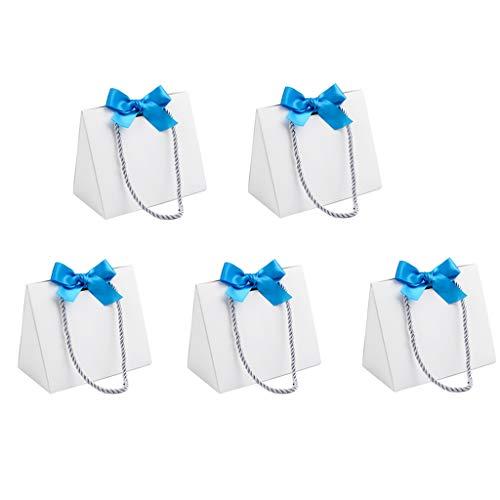 IPOTCH 5X Geschenktüten, Papierbeutel, Einkaufstaschen kleine Geschenkverpackung für Urlaub, Einzelhandel mit Drehgriffen aus Kunstdruckpapier