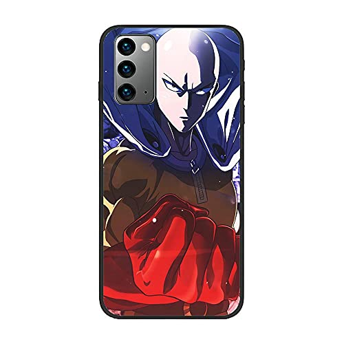 Slim Matte Black Coque TPU Thin Liquid Crystal Case Cover For Samsung Galaxy Note 20-Japan One Punch-Man 9
