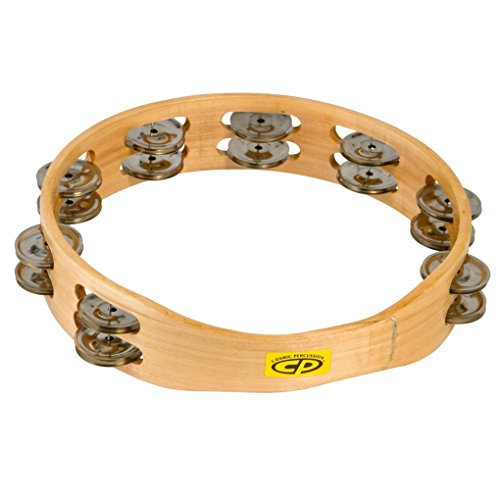 """LP Latin Percussion CP Wood Tambourin Holz 10\"""" doppelreihig ohne Fell CP390"""