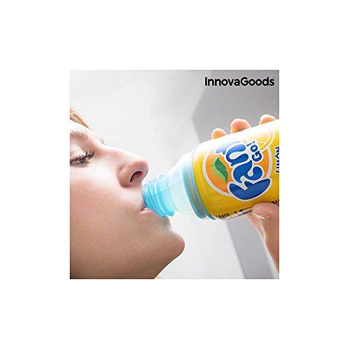 InnovaGoods Pack de Tapones para Latas, PE, Azul, 6x6x5 cm, 10 Unidades