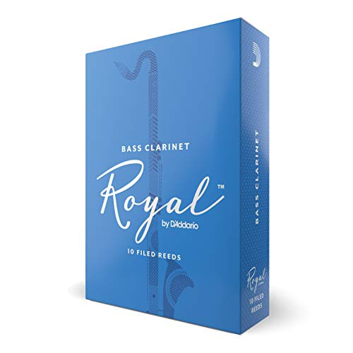 Royal Bass Clarinet Reeds, Strength 2.5, 10-pack