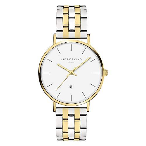 Liebeskind Berlin Damen Analog Quarz Uhr mit Edelstahl Armband LT-0215-MQ