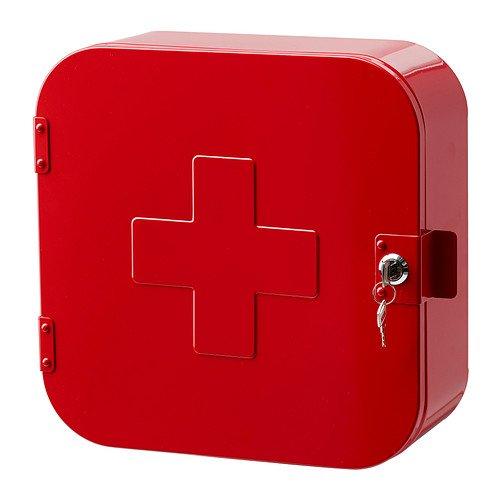 Sterling montaje en pared armario botiquín con cerradura–rojo
