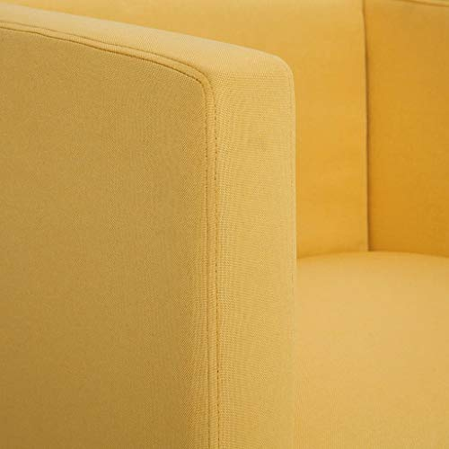 vidaXL Clubsessel Loungesessel Cocktailsessel Relaxsessel Fernsehsessel Polstersessel Lounge Sessel Stuhl Sofa Wohnzimmer Gelb Polyester