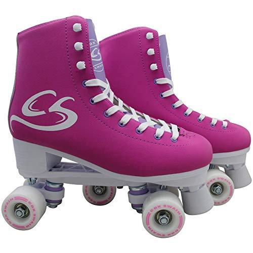 Cox Swain Kinder-/ Damen Rollschuhe - Lexi - Rollerskates- ABEC5, Colour: Purple, Size: 38