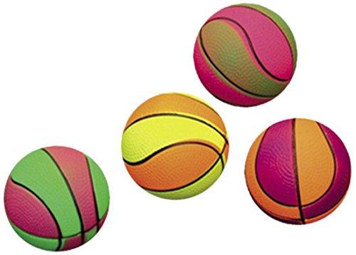 Nobby Moosgummi Basketbälle sortiert 6,3 cm; 4er Netz