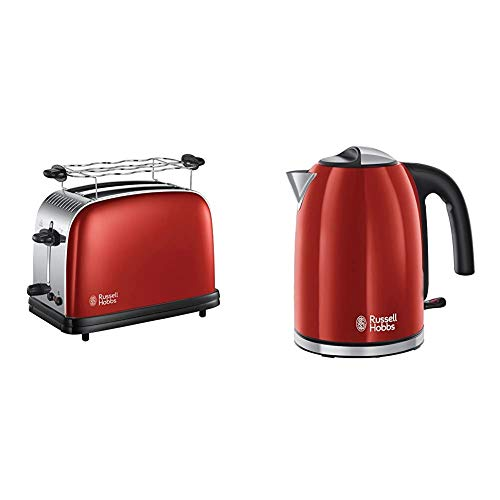 Russell Hobbs Colours Plus+ Flame Red Wasserkocher + Toaster