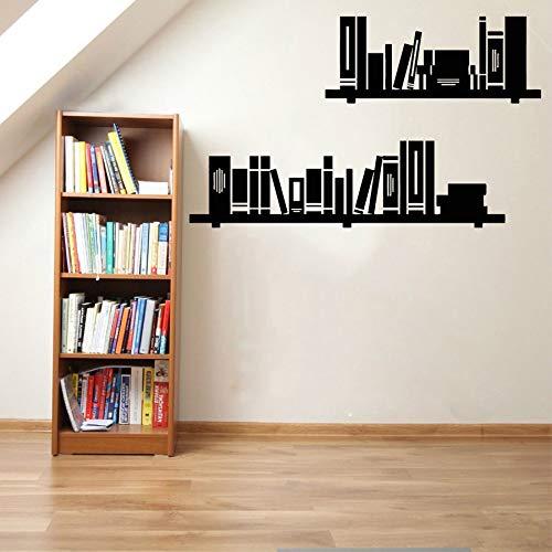 XCSJX Libros Pegatinas de Pared Biblioteca estantería calcomanías de Vinilo Sala de Lectura Accesorios de decoración del hogar Sala de Estudio decoración Libros Arte Mural 42x70cm