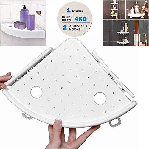 Duschregal Eckregal Corner Storage Holder Shelves Ohne Bohren, Snap up Eckregal Triple-eckigen Badezimmer Wand Eckhalterung, ideal für Schlafzimmer, Badezimmer, Küche Usw