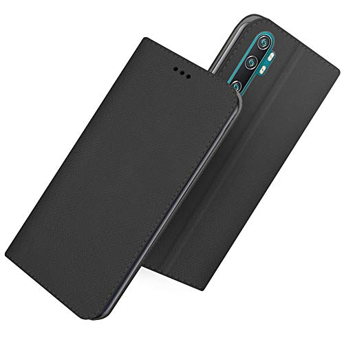 compatibile per Xiaomi MI Note 10 / Mi Note 10 Pro/Mi CC9 Pro Custodia COVER case STAND LIBRO GEL Protezione tpu PORTAFOGLIO eco pelle porta carte (Nero)