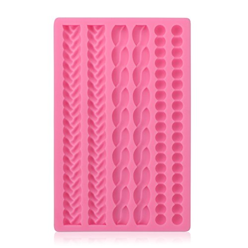 Silicone Pie Crust Mold, Beasea Pearl Fondant Mold Fondant Impression Mats Baroque Fondant Mold for Cake Decorating Lace Silicone Mold Sugarcraft Baking Mould Cookie Pastry Pies Cake Toppers