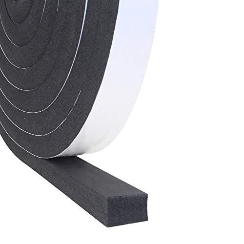 Dichtungsband Selbstklebend, Schaumstoff Dichtungsband 25mm(B) x20mm(D), Moosgummi selbstklebend für Tür Fenster, türdichtung, wetterfest, Anti-Kollision, Schalldämmung, Gesamtlänge 5m