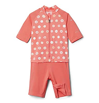 Columbia Baby Sandy Shores Sunguard Suit, Melonade Polka Pets, 3/6