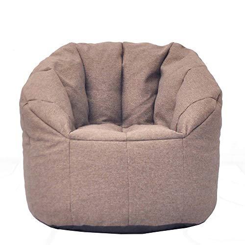 BGROEST Lehrstuhl für Kinder und Erwachsene Aufbewahrungsbohnensack - Extra Stuff 'n Sit Organisation für Kinder Spielzeug Lagerung (Farbe : Braun, Größe : 75 * 75cm)
