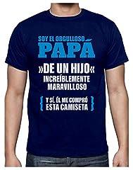 Camisetas Hombre Originales Divertidas - Orgulloso Papá de un Hijo Increíble