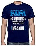 Green Turtle Camiseta para Hombre - Regalos para Hombre, Regalos para Padres. Camisetas Hombre Originales Divertidas - Orgulloso Papá de un Hijo Increíble Medium Azul Oscuro