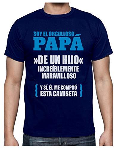 Green Turtle Camiseta para Hombre - Regalos para Hombre, Regalos para Padres. Camisetas Hombre Originales Divertidas - Orgulloso Papá de un Hijo Increíble Large Azul Oscuro