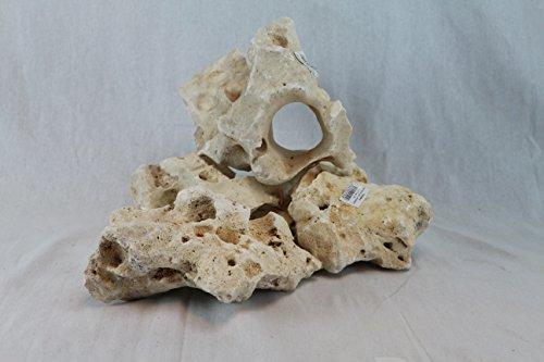 Aquadeco - Pietra a Fori, Decorazione per Acquario, Dimensioni e forma possono variare