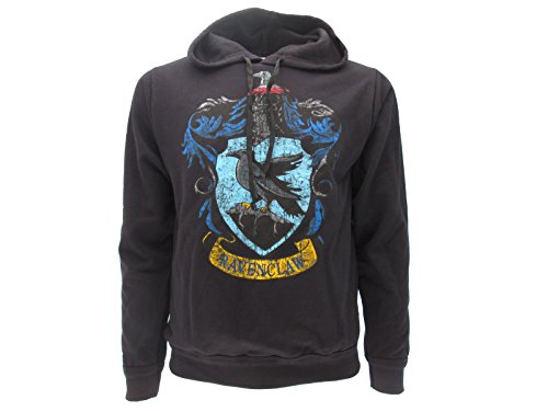 Harry Potter Kapuzenpulli Kapuzenpullover Hoodie Sweatshirt Ravenclaw Haus Waffen - 100% Offiziell Warner BROS (S Small)