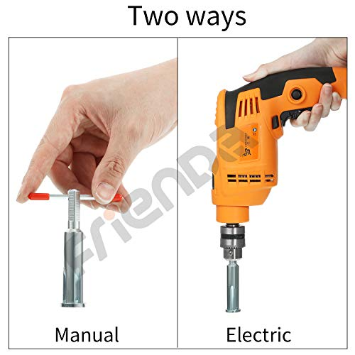 Wire Twisting Tools, Wire Stripper and Twister, Silver Wire Terminals Power Tools for Stripping and Twisting Wire Cable, Both Manual and Electric (2)