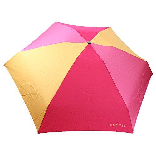 Esprit - Paraguas automático (tamaño pequeño), color rosa