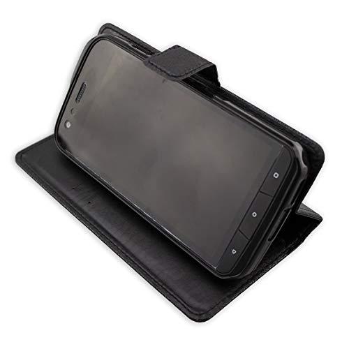 caseroxx Handy Hülle Tasche kompatibel mit Cat S61 Bookstyle-Hülle Wallet Hülle in schwarz