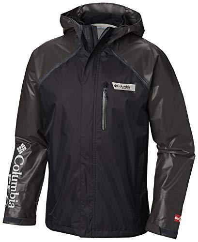 Columbia Men's PFG Terminal Outdry Hybrid Jacket, Black, Medium