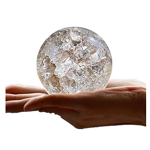 AMITD Crystal Glass Marbles Ice Crack Ball Ornamenten Feng Shui Home Decoratieve waterfontein Bonsai bal Terrarium Decor