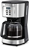 Black+Decker 900W 12 Cup 24 Hours Programmable Coffee Maker with 1.5L Glass Carafe and Keep Warm Feature for Drip Coffee...