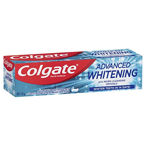 Colgate Advanced Whitening Teeth Whitening Toothpaste with Microcleansing Crystals Whiter Teeth in 14 Days 110g