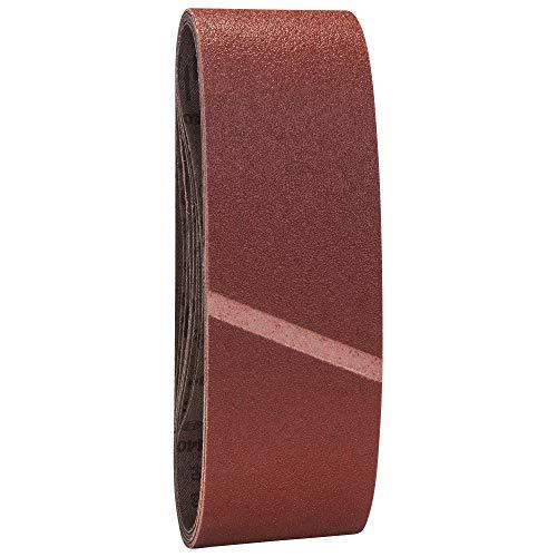 Set de 9 abrasifs Bosch pour Ponceuse à bande 75 x 533 mm Grains 3 X 60 + 3 x 80 + 3 x 100