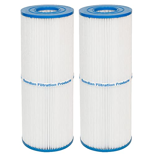 Guardian Filtration - Pool & Spa Cartridge Filter Replacement for Pleatco PRB25-IN, Unicel C-4326, C4326, and Filbur FC-2375 | Easy to Clean 25 Sq. Ft. Filter Media | Model 413-106 (2 Pack, White)