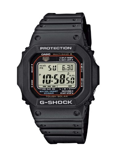 Casio G-Shock Unisex Watch in Resin with Solar Power and Snooze Feature -...