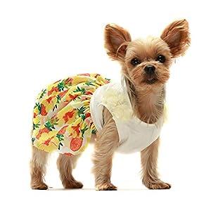 Fitwarm Tropical Flower Sundress Dog Clothes Puppy Dress Doggie Outfits Pet Vest Dress XS