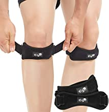 Patella Tendon Knee Strap 2 Pack, Knee Pain Relief Support Brace Hiking, Soccer, Basketball, Running, Jumpers Knee, Tennis, Tendonitis, Volleyball & Squats