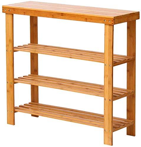 Schoenenrekken 50 cm breed opslag afdekking plank hout stofdicht stabiel natuurlijk bamboe frame voor Home & Commercial (grootte: 50x27x91 cm) 50x27x68cm
