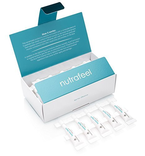 Ageless Beauty Instant Face Lift with Hyaluronic Acid - Acai Extract - Argireline - Matrixyl 3000 - Drastically Reduces Eye Bags, Wrinkles, Lines, Puffiness - Tighten Skin Instantly (25 Vials)
