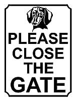 ゲートを閉じてください メタルポスタレトロなポスタ安全標識壁パネル ティンサイン注意看板壁掛けプレート警告サイン絵図ショップ食料品ショッピングモールパーキングバークラブカフェレストラントイレ公共の場ギフト