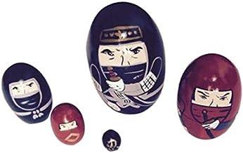 Dyeduchka Ninja 5 Bonecos de Madeira + Mini Matrioska Oval - 9cm