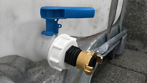 CMTech GmbH Montagetechnik ams19 6 W135100 Bec Adaptateur avec raccord laiton Geka – Lave-vaisselle, IBC Adaptateur Mamelon – Réservoir d'eau de pluie Bidon de Accessoires de conteneurs