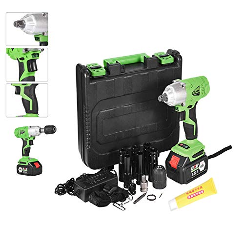 Cordless Impact Wrench 1/2'' 16800mAh Lith-Ion Battery Portable Electric Brushless Impact Drill Driver Kit Drill 280Nm High Torque Tool with LED Lights and Carry Case Multifunction for Hold Punching