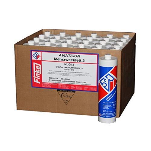 Wallentin & Partner Aviaticon (11,73 EUR/kg) 30 Schraubkartuschen 500g Schmierfett Mehrzweckfett 2 Abschmierfett