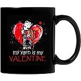 N\A The Groot My Yarn Is My Valentine Tazza da caffè in Ceramica 11 Once Regali Personalizzati per Genitori, Ufficio degli Amanti, Regali di San Valentino Entrambi i Lati sensibili al Calore