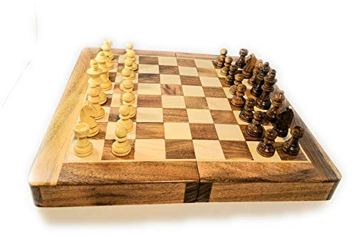 10 inch Wooden Magnetic Chess Set