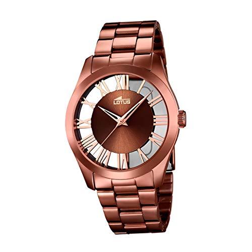 Lotus Reloj Analógico para Mujer de Cuarzo con Correa en Acero Inoxidable 18125/1