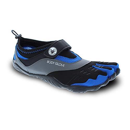 Body Glove Men's 3T Barefoot Max Water Shoe, Black/Dazzling Blue, 11