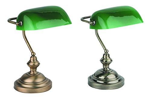 Faro 68333 - lampada da tavolo Banker finitura bronzo, metallo