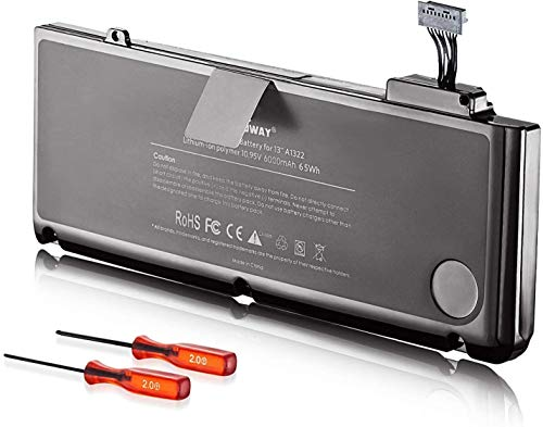 E EGOWAY A1322 Laptop Battery Compatible with Mac Book Pro 13 inch A1278 A1322 2009 2010 2011 2012, fits MB990LL/A MB991LL/A MC375LL/A MD314LL/A MC724LL/A