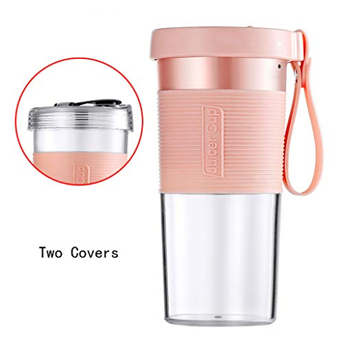 Read About Sisyria Portable Sport Juicer Cup with Double Covers,Eletric Personal Blender Powerful Fr...