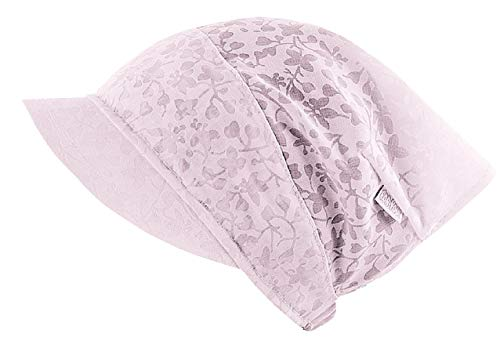 F.P.H. MAJA Kopftuch Sommer Mütze Schirmmütze Mädchen Baumwolle (51 cm = L - 50/52 cm Kopfumfang, Rosa)